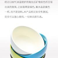 水洗去油 无需任何洗洁精 疏水设计陶瓷碗 一冲就干净