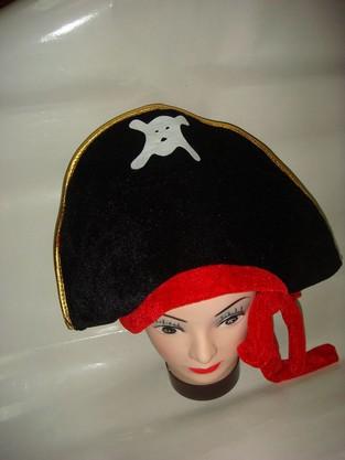 植絨布海盜帽
